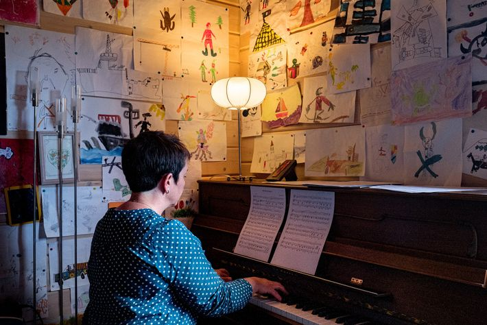 To decompress from her work, Dr. Spihlmann started playing the piano again for the first time ...