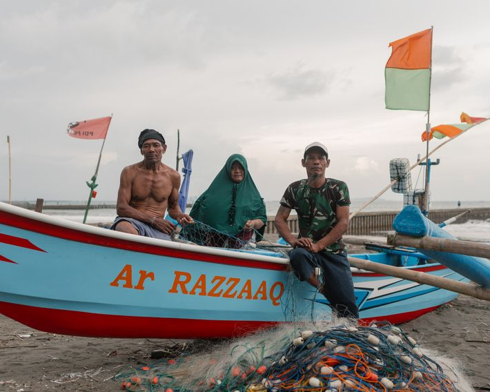 Cilacap is famous for its fishing industry, but many of its fishermen are now staying on ...