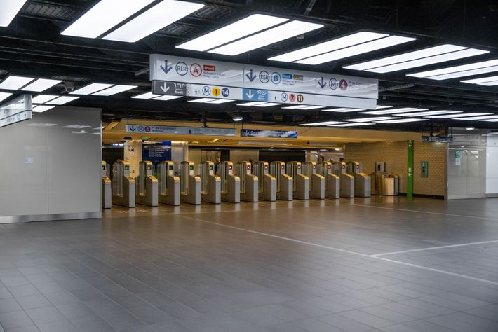 Three regional city trains and five metro lines run through Châtelet-Les Halles, moving a total of ...