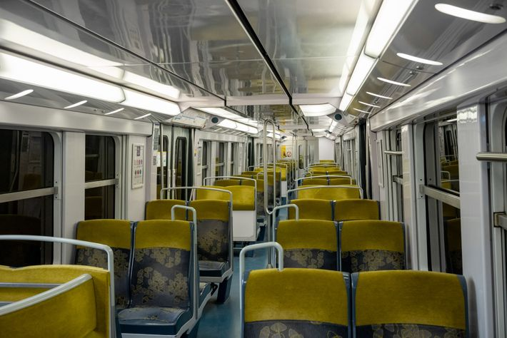 With flights being cancelled around the world, the train from the city centre to Charles de ...