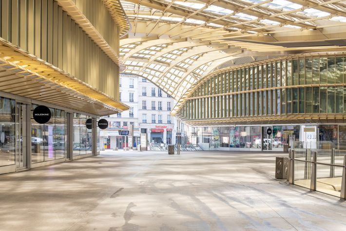 The Forum des Halles, in the center of Paris, is one of the largest commercial malls ...
