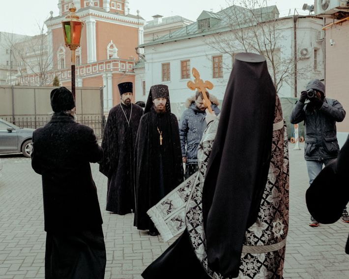 Following the centuries-old tradition of processionals that seek divine blessing, groups of Orthodox priests in Moscow ...