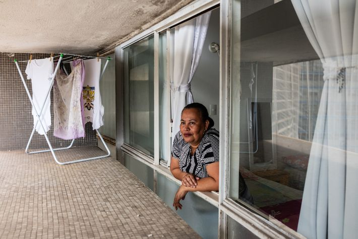 Angelica Cunha, 55, is a caregiver for an elderly woman and depends on her income to ...