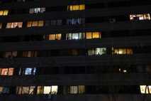 "In the ""Ekbatan"" apartment complex in west Tehran, inhabitants come to their windows at 8 p.m. ..."