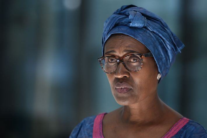 """""""You stand up because you think you have an answer,"""" says Winnie Byanyima, the executive director ..."""