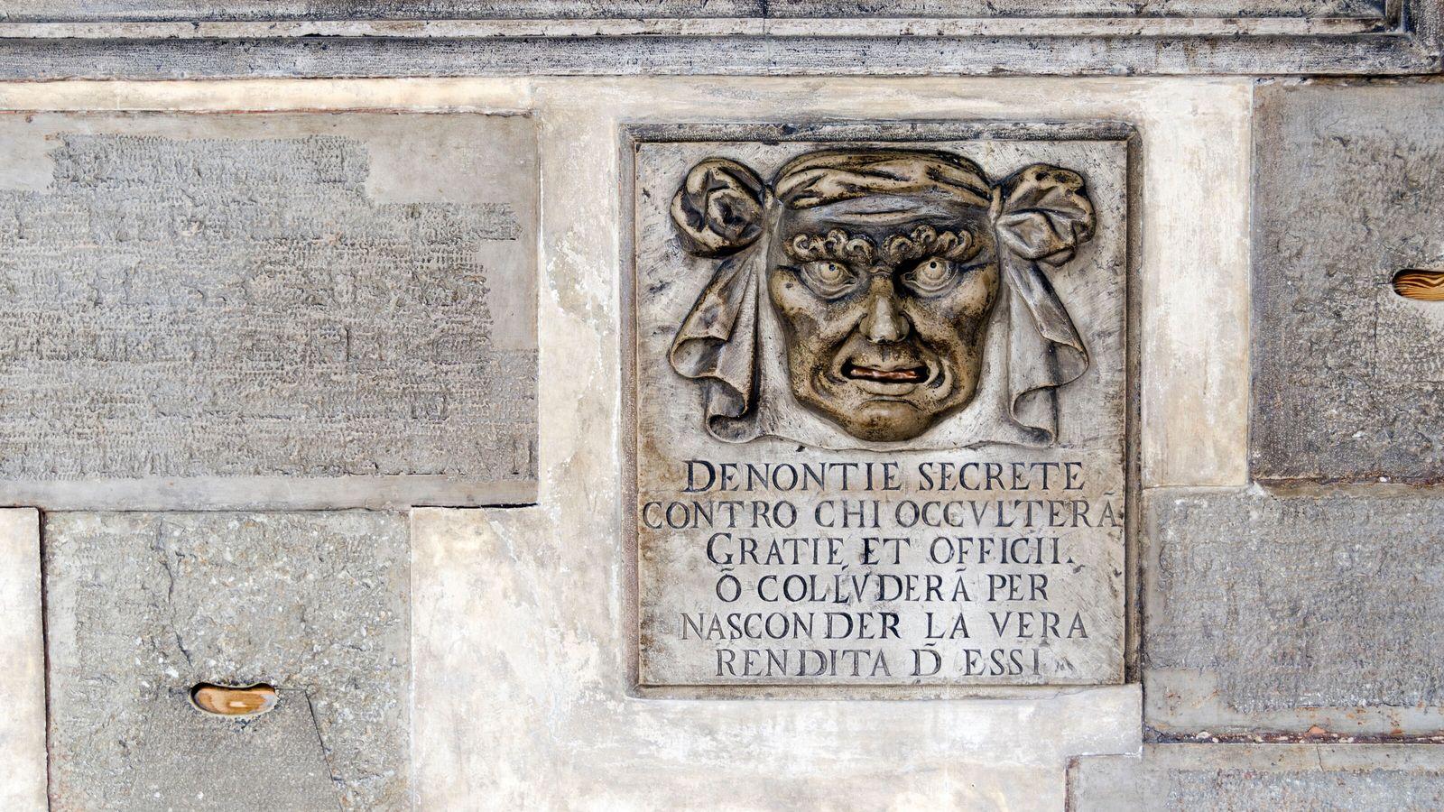 Bocche di Leone in Palazzo Ducale, San Marco.