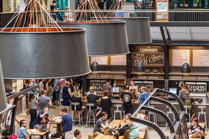 The Common craft beer and wine kiosk is located in the newly renovated Food Hall of ...