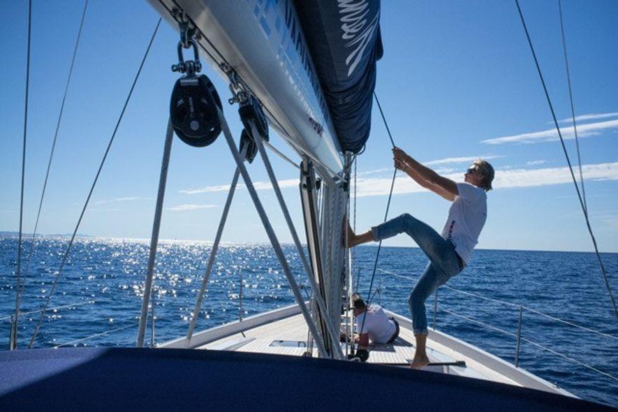 Sailing on the Hanse 575 with Jacob, Croatia. Image: Mark C O'Flaherty