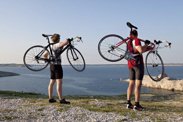 Cyclists in Croatia.