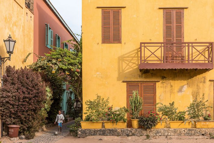 Gorée is a small, car-free island off the coast of Dakar, in Senegal with narrow streets ...