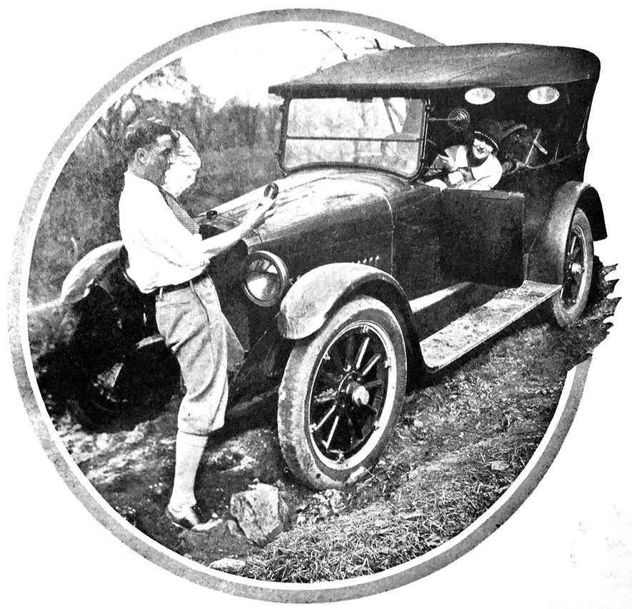 One of the original images for the Motor Magazine articles in which Fitzgerald chronicled the mishaps ...