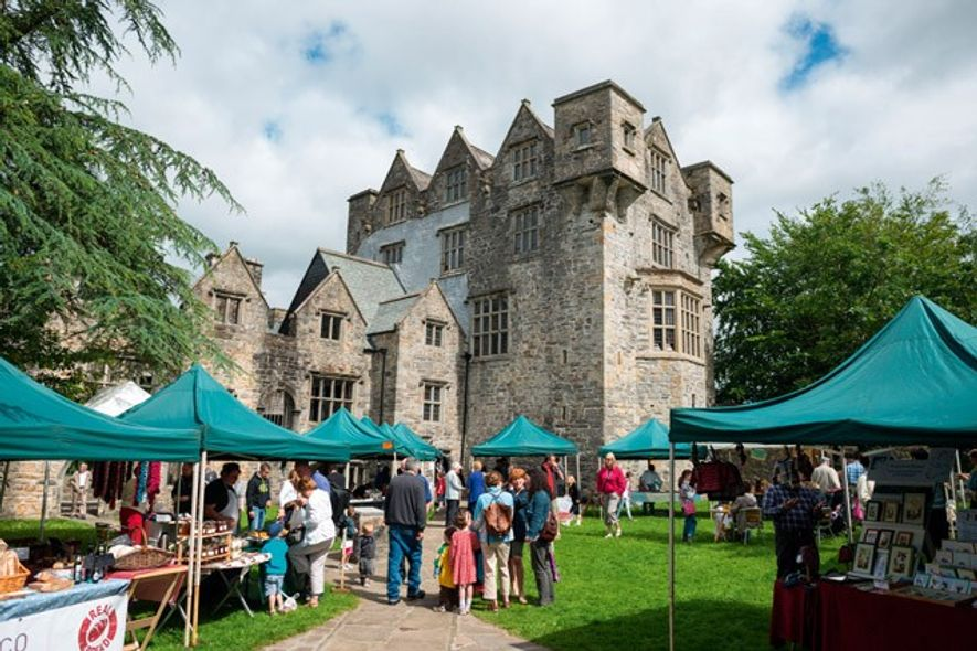 Market on the grounds of Donegal Castle