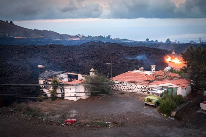 Thousands have been evacuated and at least 20 homes have been destroyed by the ongoing eruption ...