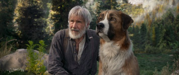 Harrison Ford as Jack Thornton – with 'Buck' – in the new movie adaptation of The ...