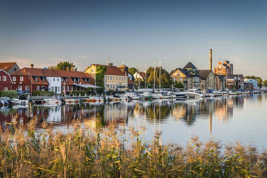 Åhus, a picturesque medieval town