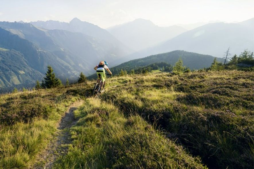 Cycling in the mountains of Tirol.