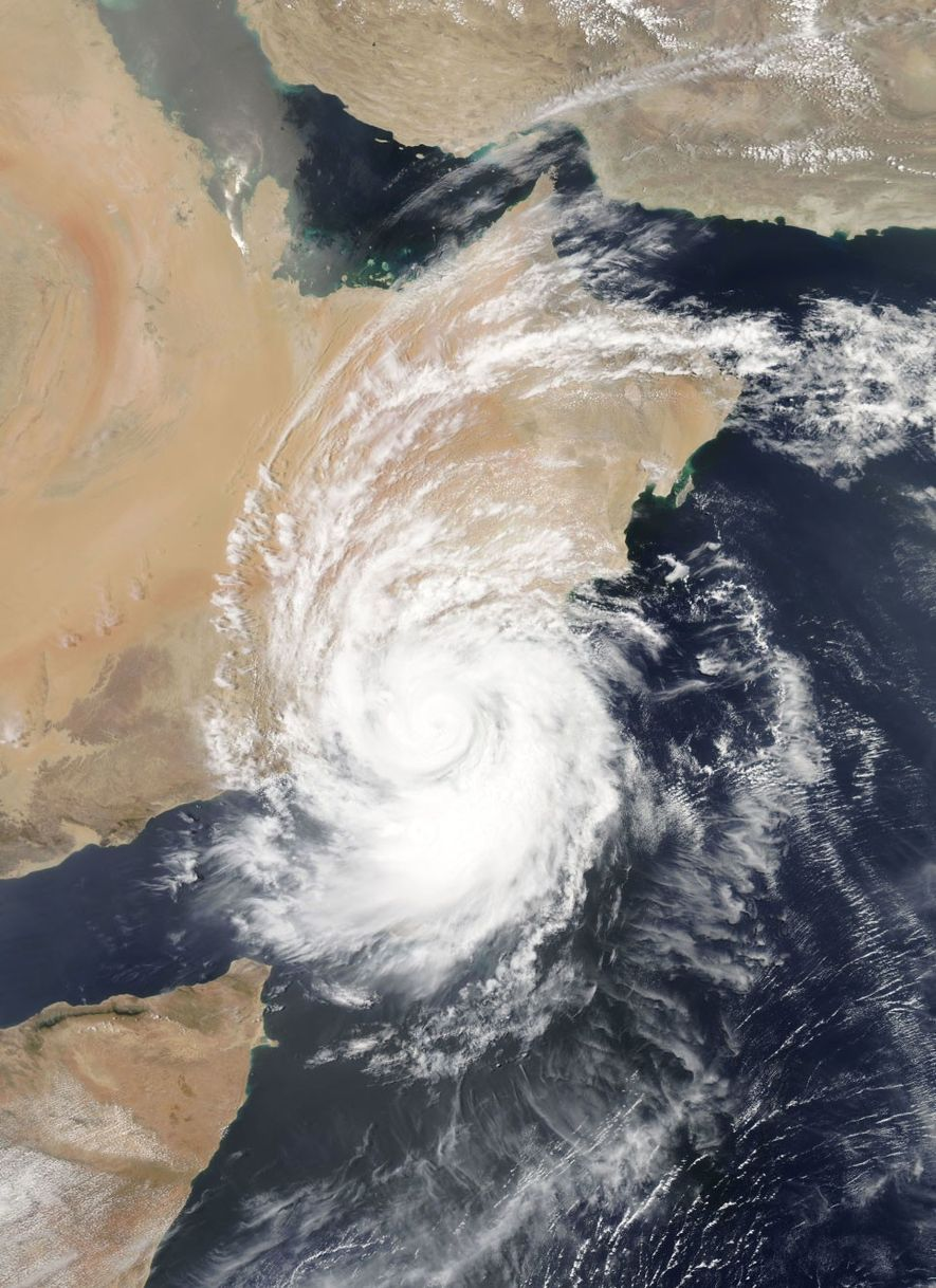 Cyclone Mekunu hits the east coast of Africa on May 25, 2018. This might be one ...