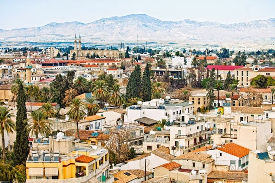 View to Nicosia, with the Turkish side of Cyprus in background.