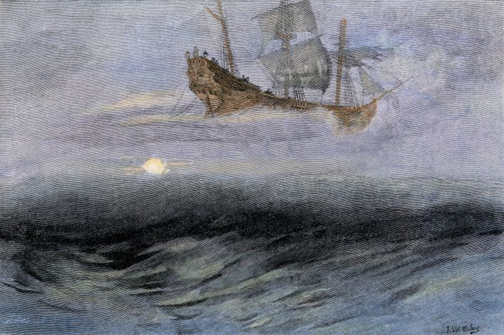 The legend of the 'Flying Dutchman', said to originated from the days of the Dutch East ...