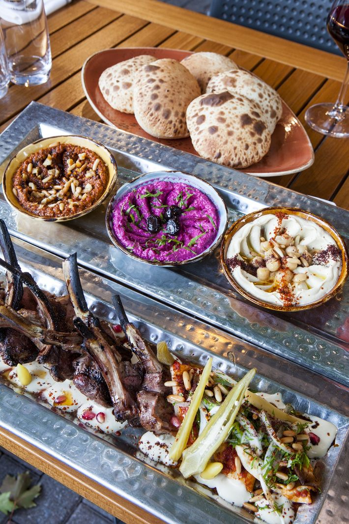 Damas, a Syrian restaurant in Montreal, serves an array of Middle Eastern mezes.