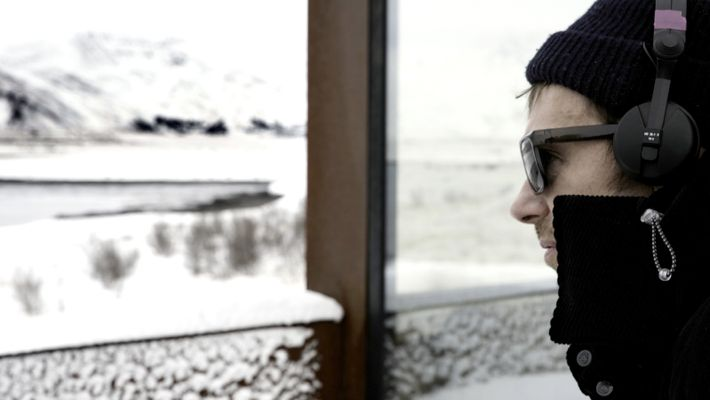 Damon Albarn at his home in Reykjavik during the recording of his album The Nearer the ...