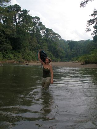 Conditions are hot, humid and tough in Danum Valley, Borneo.