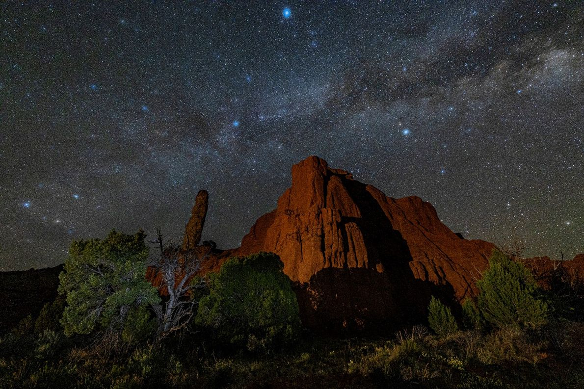 On a clear night, visitors can see the Milky Wayabove Kodachrome Basin State Park. Glimpses of ...