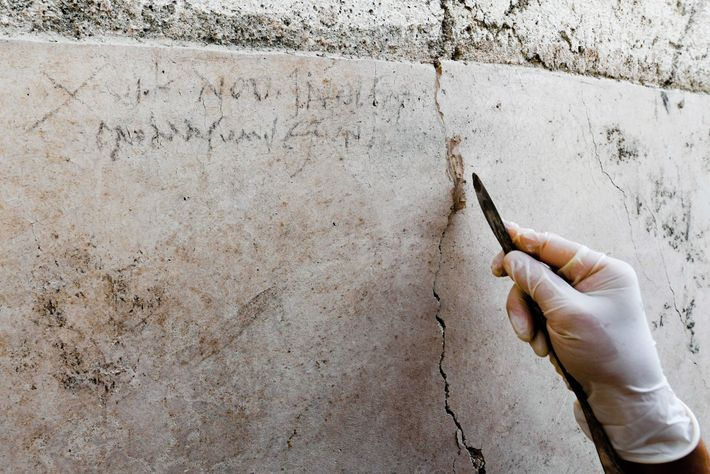A Roman worker jotted down the date on the wall of the House of the Garden. ...