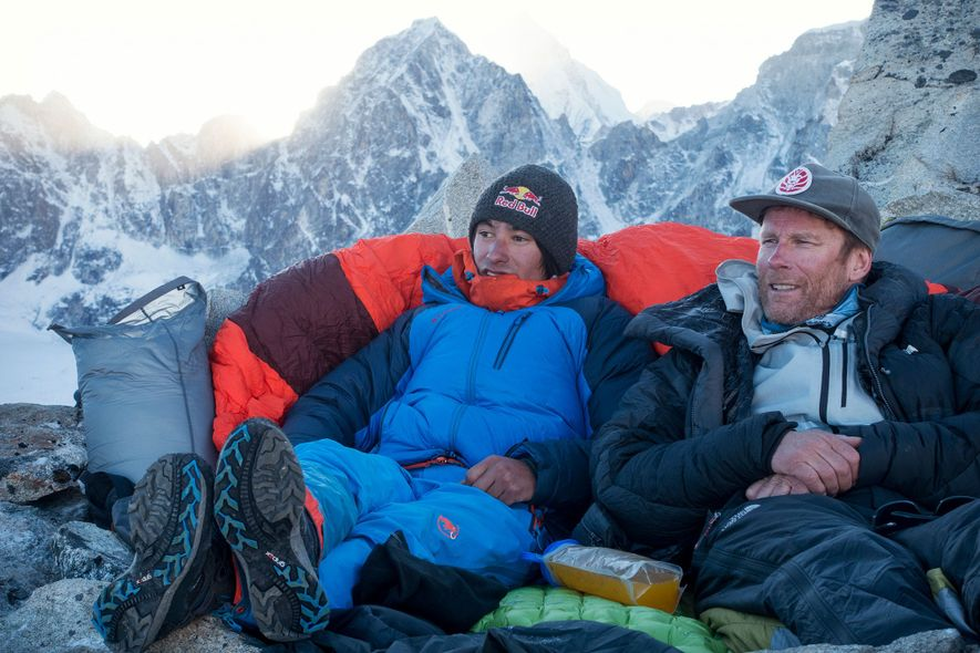 Lama and world-class alpinist Conrad Anker teamed up to try to climb Lunag Ri, a then-unclimbed ...