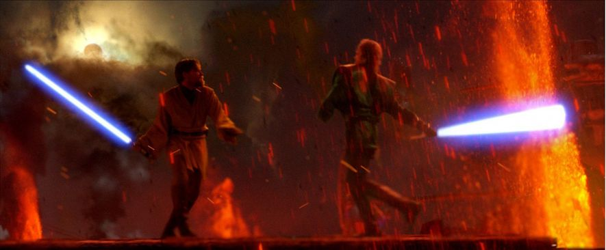 The lightsaber duel at the climax of Revenge of the Sith (2005) was a largely digitally-rendered ...