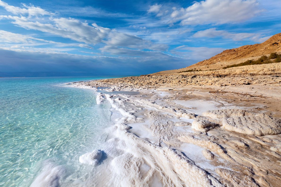 Dead Sea, bordered by Israel, West Bank, and Jordan