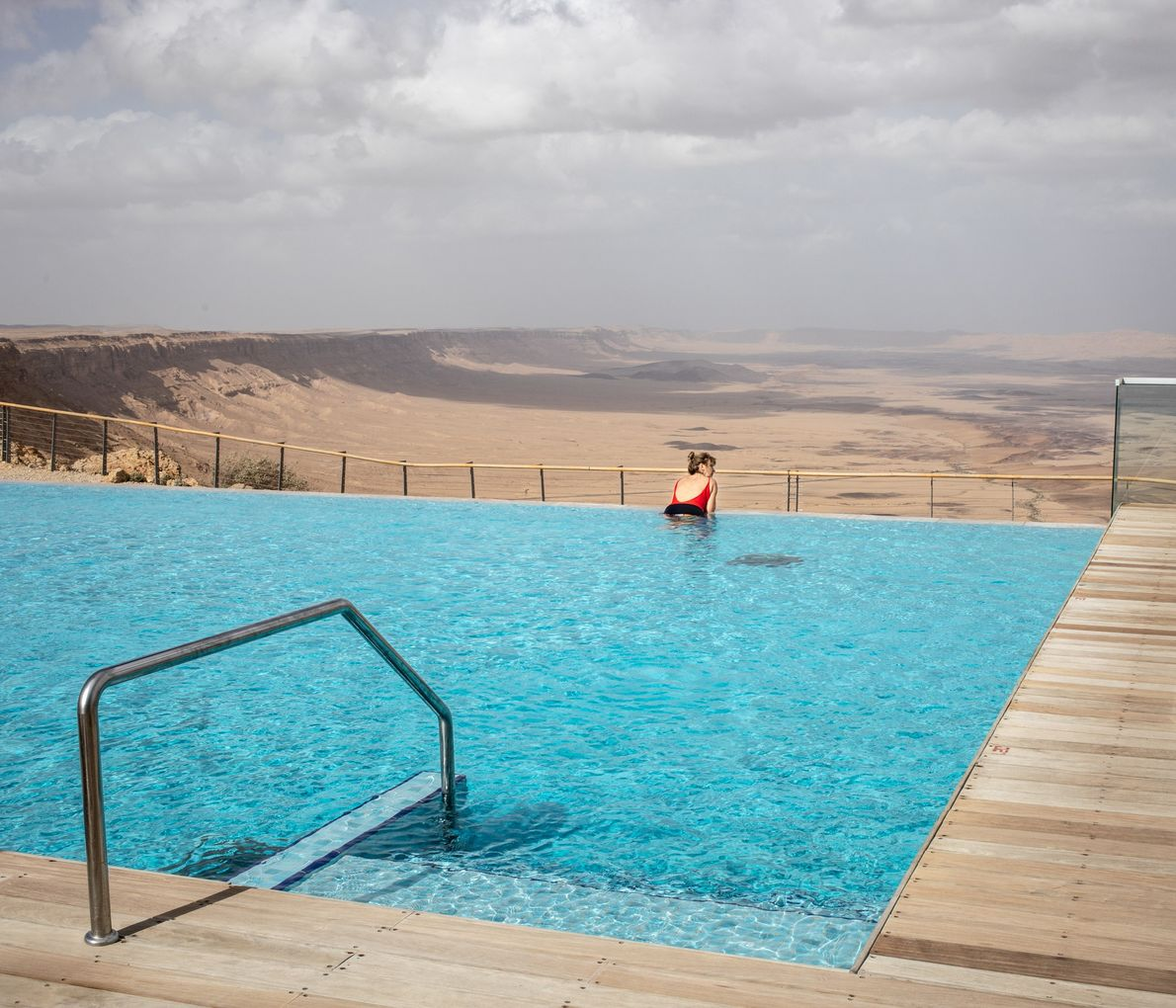 Called the 'coolest pool in the world' by 'Travel Agent Central Magazine', this dip looks out ...