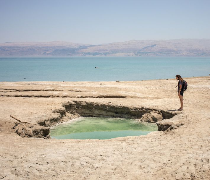 Sinkholes around the Dead Sea are a major hazard as the water level drops.