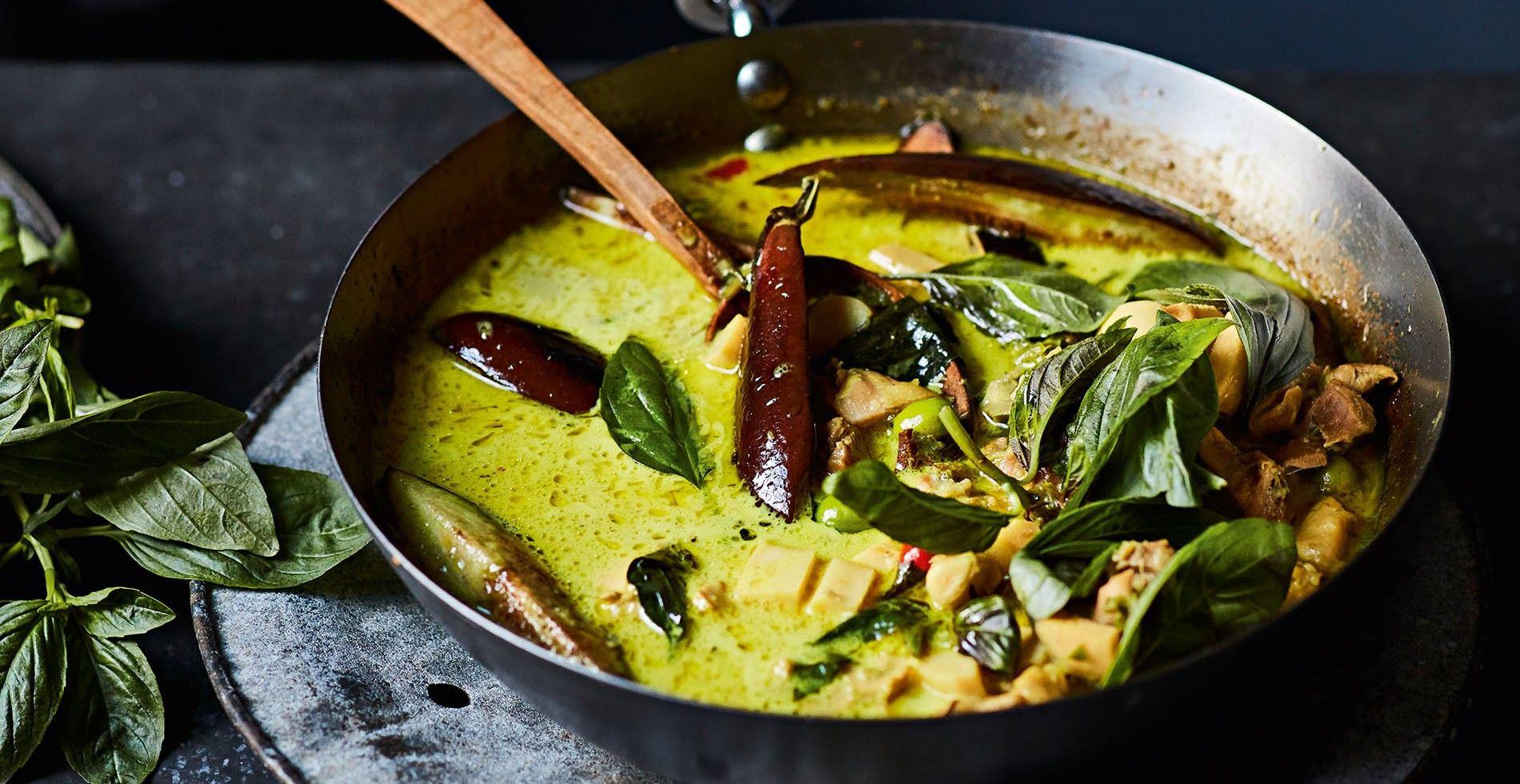 A Thai green curry.
