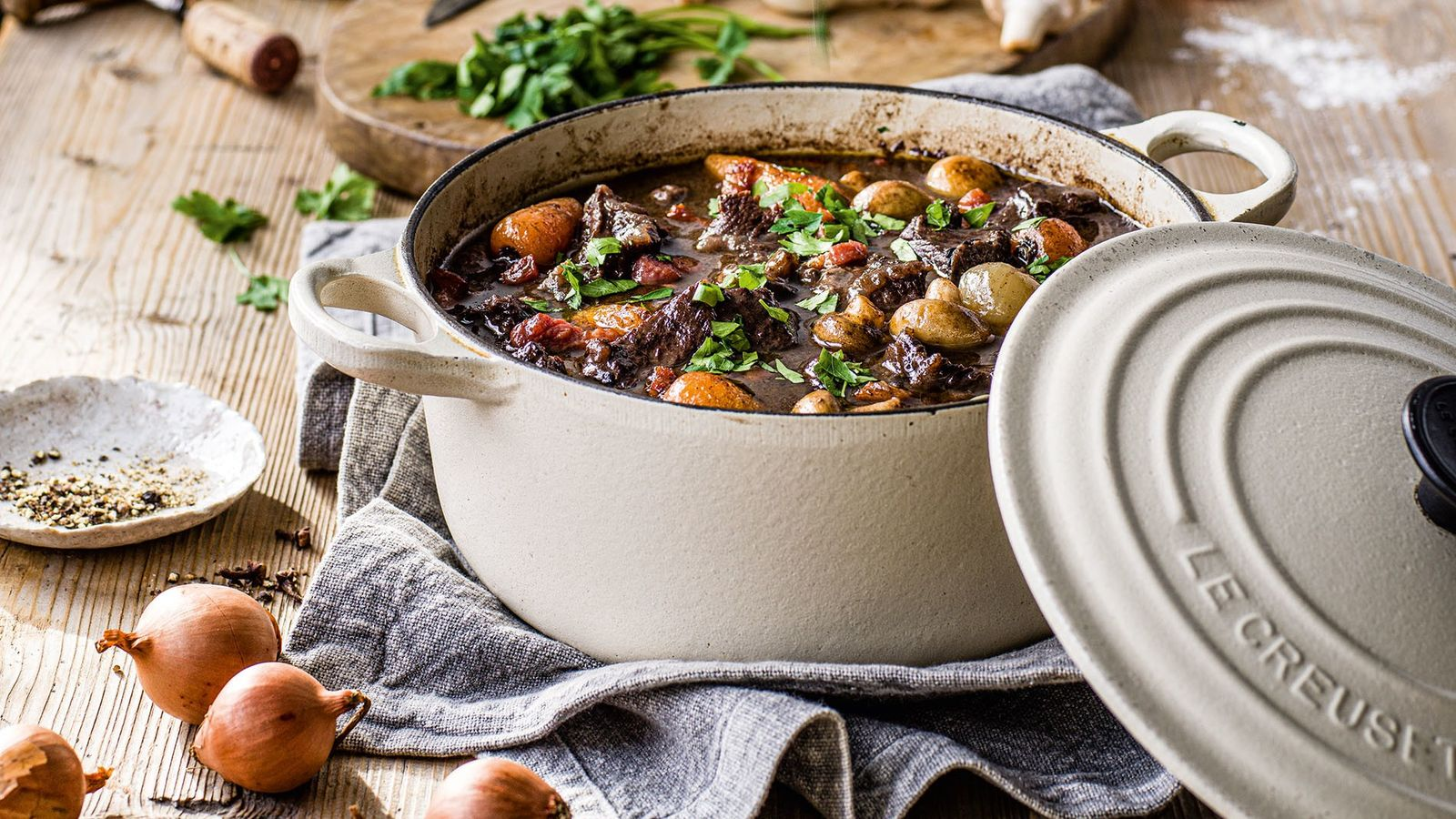 This beef and red wine stew, hailing from Burgundy, has arguably become the national dish of ...