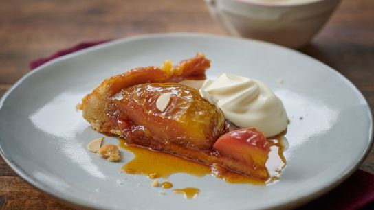 Like many great dishes, the tarte tatin is said to have been born out of culinary ...