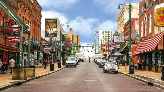 View of Beale Street, Memphis. Image: Getty