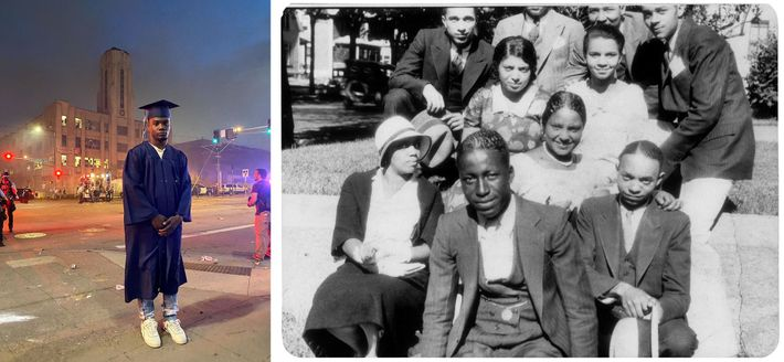 Left: This photo of Deveonte Joseph, a teenager from St. Paul, went viral during protests after ...
