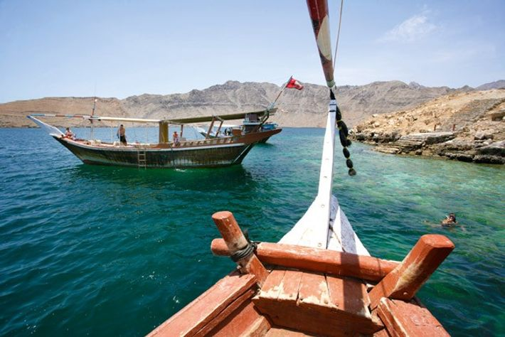 Dhow, Musandam, Oman. Image: Getty