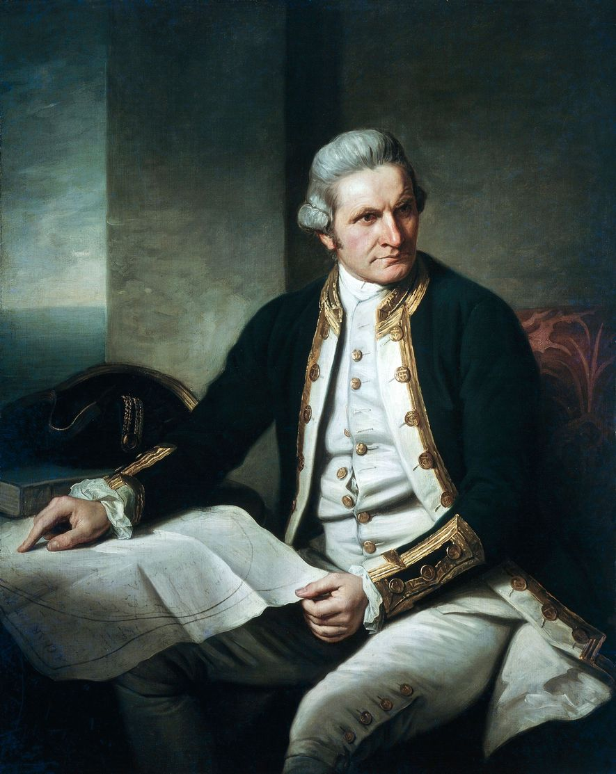 Captain James Cook, an explorer for the British Royal Navy, searched for Antarctica for three years ...