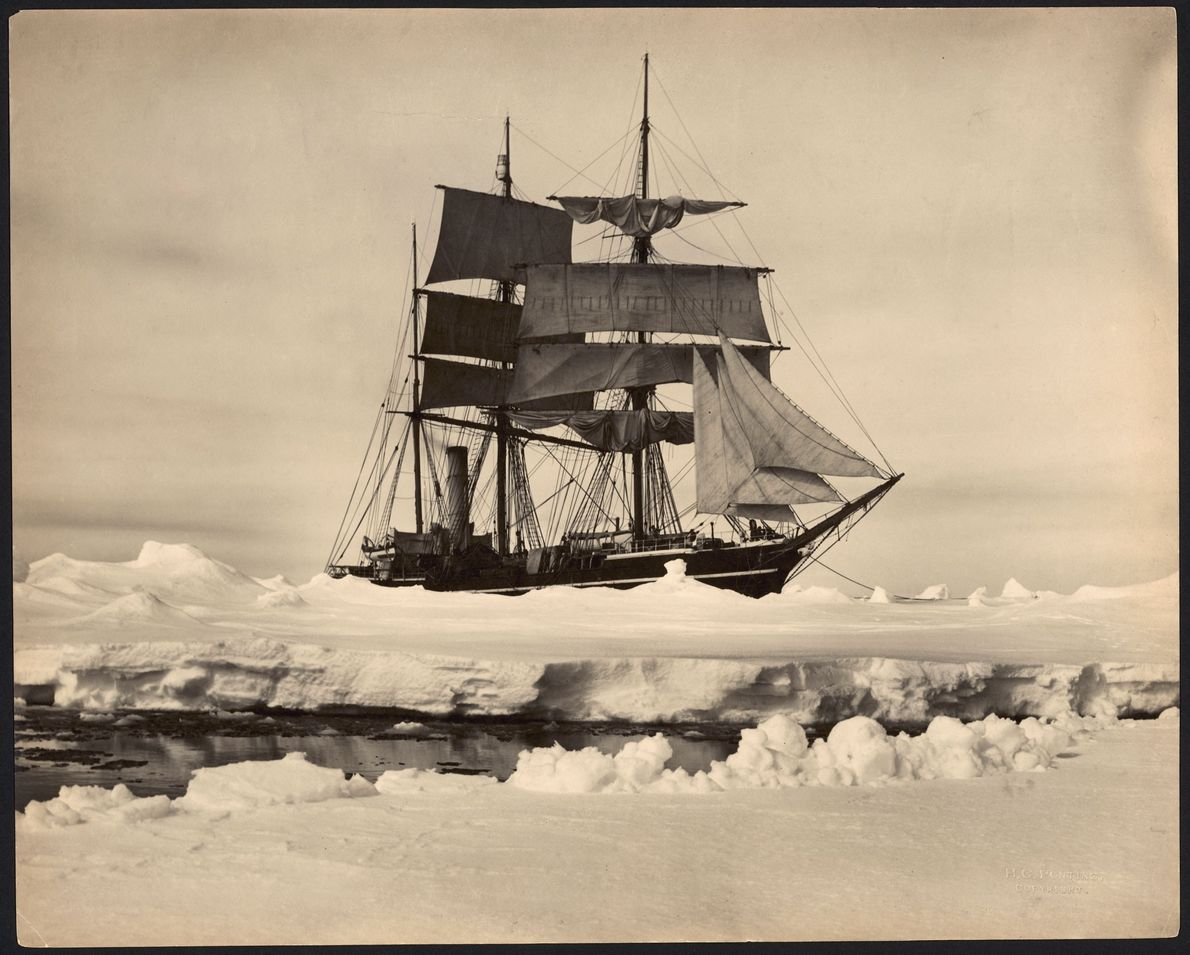 The S.S. Terra Nova ferried explorers to Antarctica from 1910 to 1912. Originally a whaling ship, ...