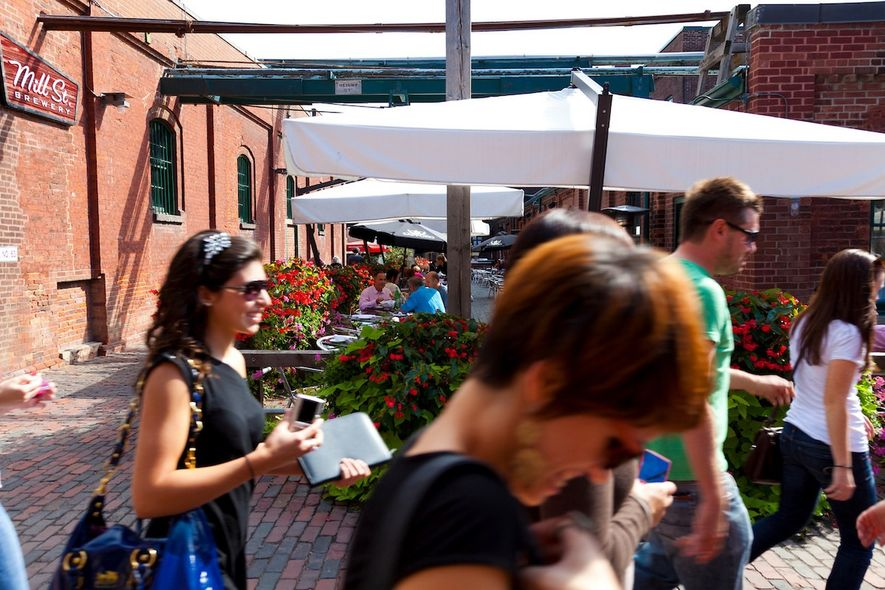 Distillery District is a lively neighbourhood and a national historic site.