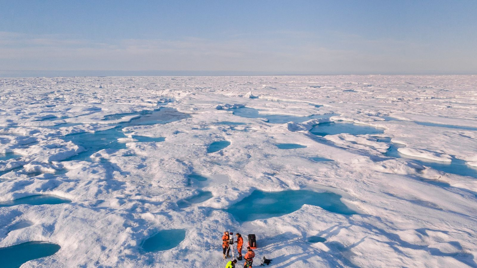 Sea ice over the Greenland Sea near northeast Greenland. Arctic sea ice this summer was the ...