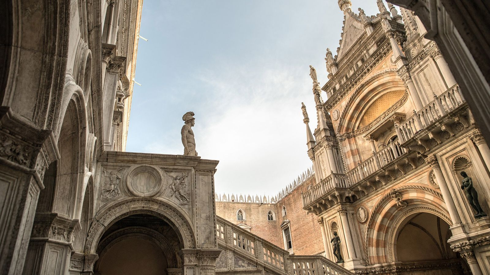 Once the seat of Venetian government, the Doge's Palace stands as the symbol of Venice and ...