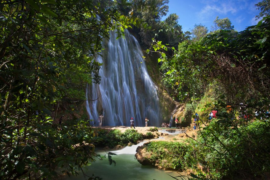 Plummeting over 130 feet (40 metres), secluded El Limón is one of the highest falls in ...