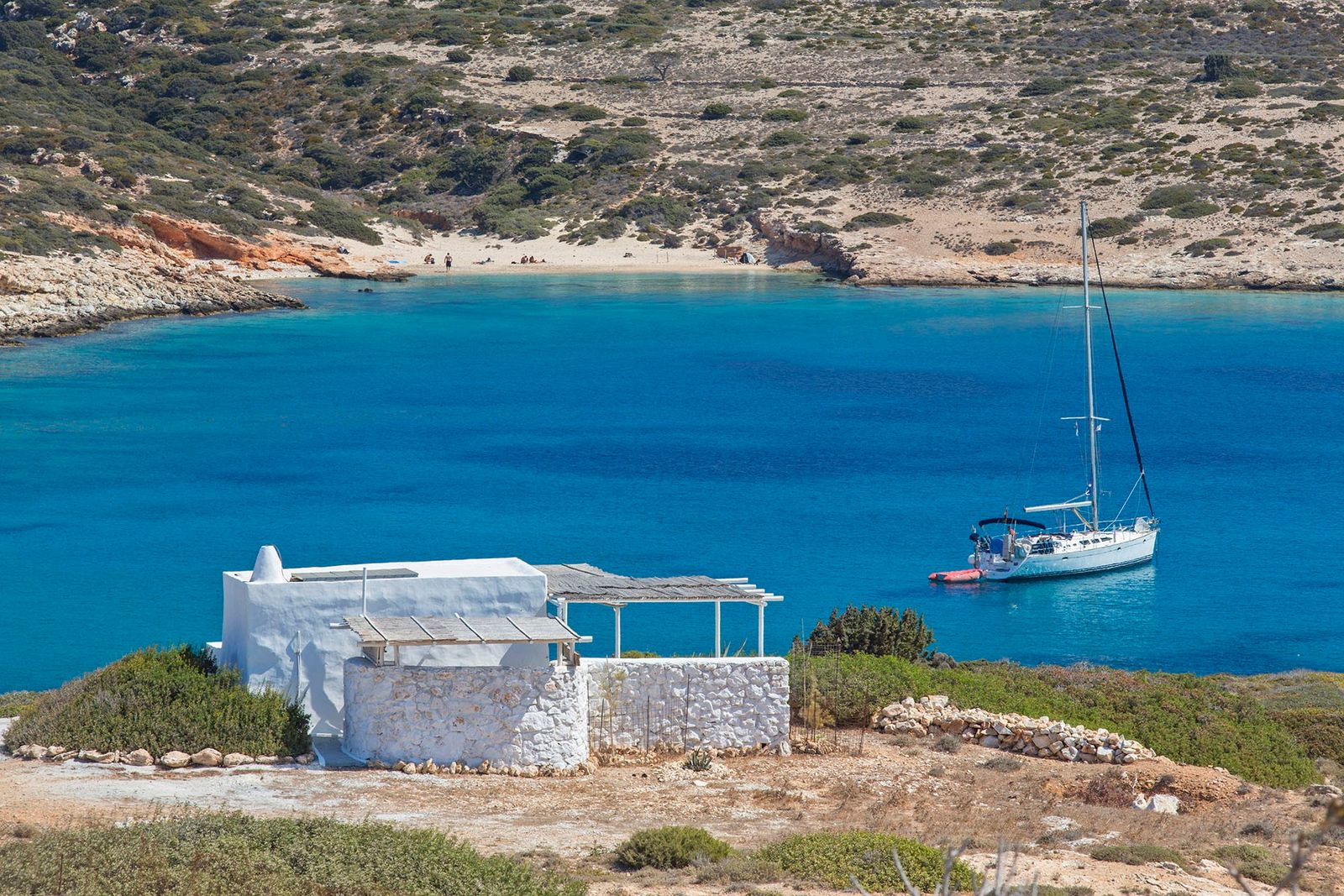 Donousa is the most far-flung of the Cyclades, with a prominent north-west cape.