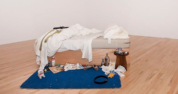 My Bed by Tracey Emin, on display at Tate Britain.