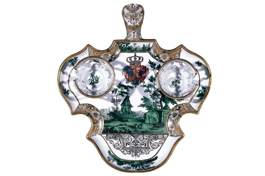 The Marquis of Mancera designed a tray—a mancerina— to avoid chocolate drips.