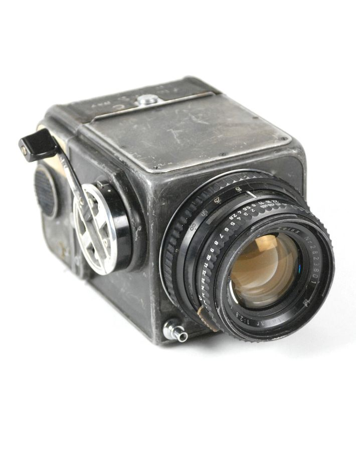 Wally Schirra's Hasselblad 500C, post modification. The camera was also used by Gordon Cooper on the ...