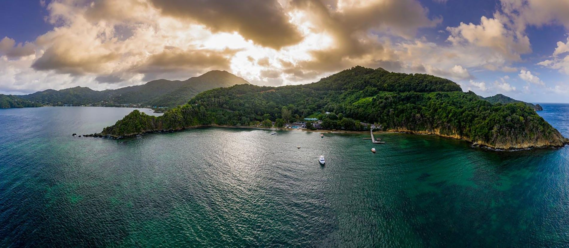 The wild beauty of Tobago is apparent in every direction. On a clear day, Grenada appears ...